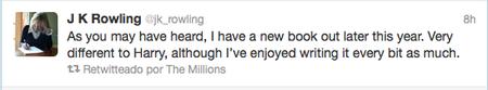 Tweet JK Rowling
