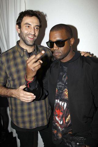 Kanye y riccardo tisci