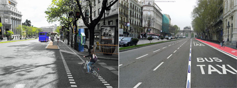 Imagen del futuro eje ciclista Alcalá-Mayor