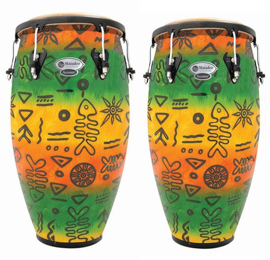 Congas de Latin-Percussion-LP-M846STF-Matador-Custom-Congas-Tropical-Fusion