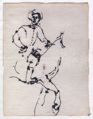 Dibujo de john berger.eljinete polaco de rembrandt
