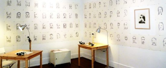 Instalación de Patrick Tresset