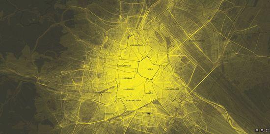 Mahir M. Yavuz, Sense of Patterns - One Day of Taxis in Vienna, 2011