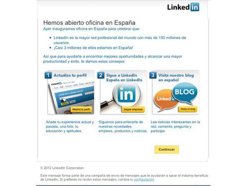 Linkedin oficina en españa 3 pasos