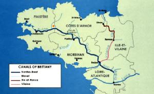 Mapa canal nantes brest