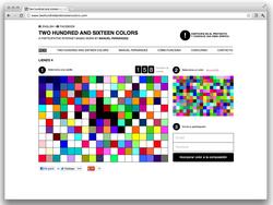 Web de Two hundred and sixteen colors de Manuel Fernández