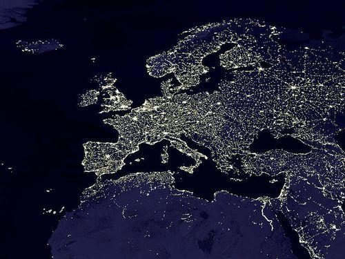 Europa nocturno aéreo