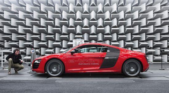 Audi R8 e-Tron, en el laboratorio acústico de la marca