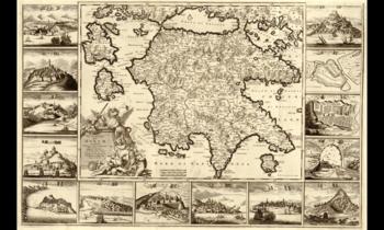 Mapa Peloponeso XVII