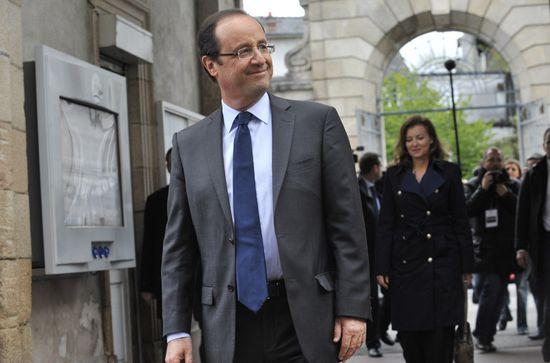 El candidato socialista francés, François Hollande