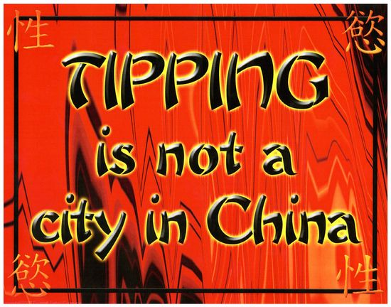 Tipping china