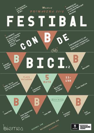 Con b de bici, organizado por Biernes,celebra su segunda edición en Matadero.
