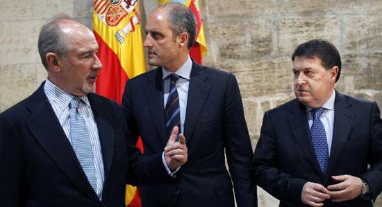 Rodrigo Rato, Francisco Camps y José Luis Olivas (JORDI VICENT)