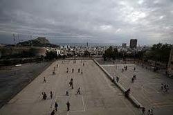Pati del Col·legi Públic de Pràctiiques (Aneja) de la ciutat d'Alacant