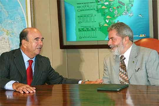 Lula y Emilio Botin