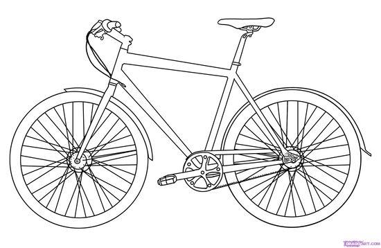 Boceto de una bicicleta.