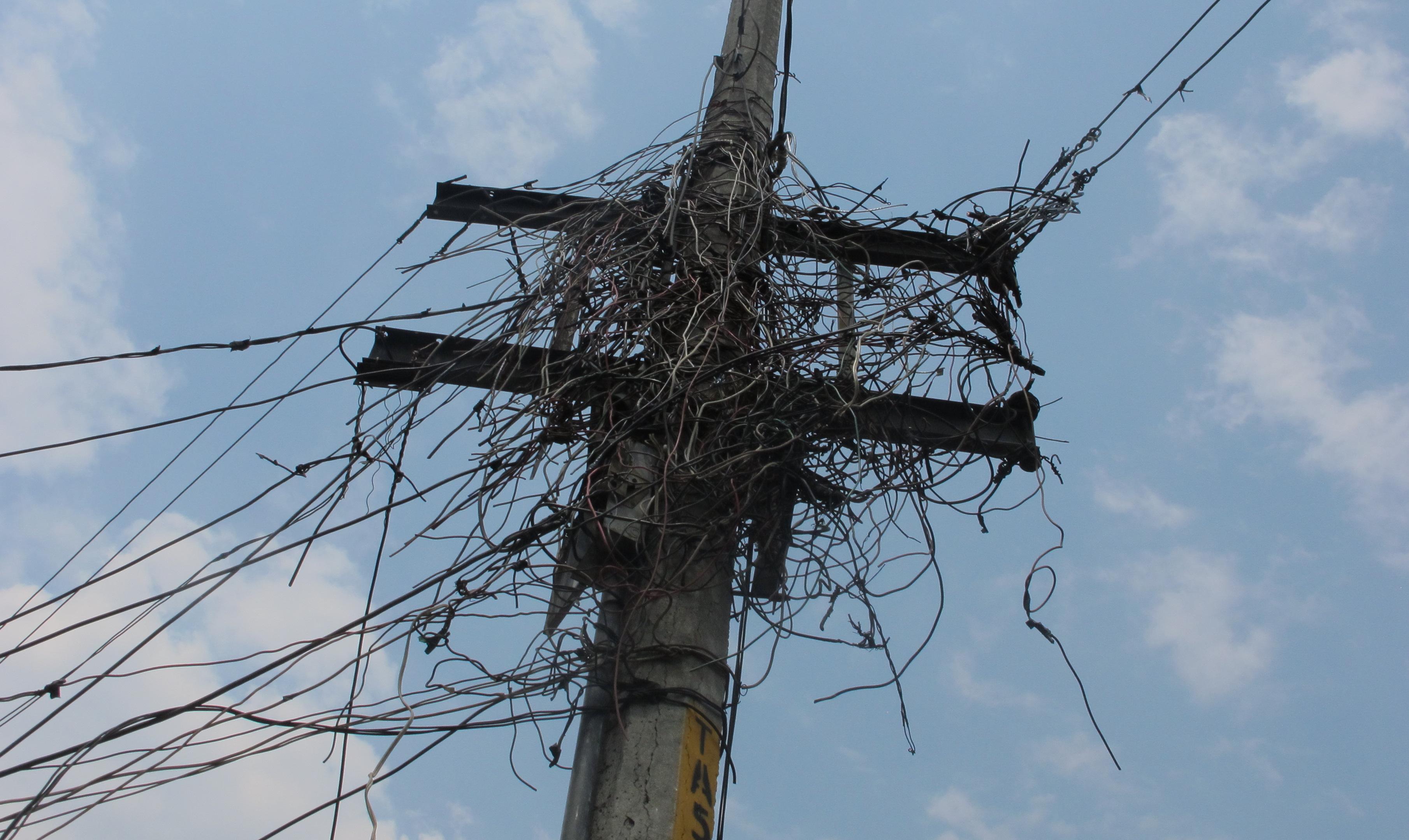 M xico df apuntes para un an lisis del despapaye - Cables de electricidad ...