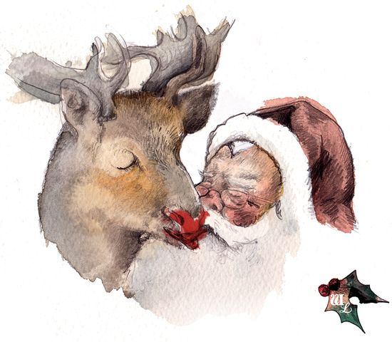 I Saw Rudolph Kissing Santa Claus