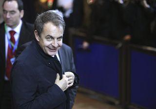 Zapatero, a su llegada al Consejo Europeo