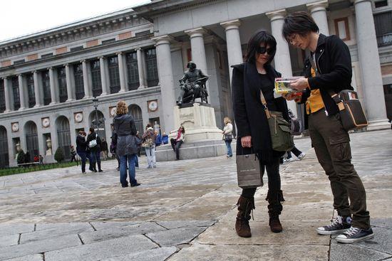 Turistas japoneses en el Prado. ULY MARTIN