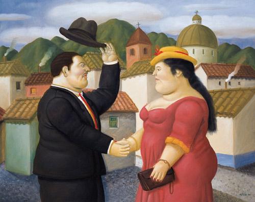 Botero hombre y mujer