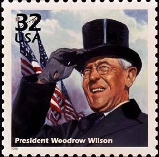 Woodrow wilson stamp