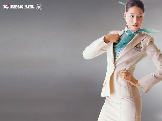 Korean Air Beauitful stewardess wallpaper