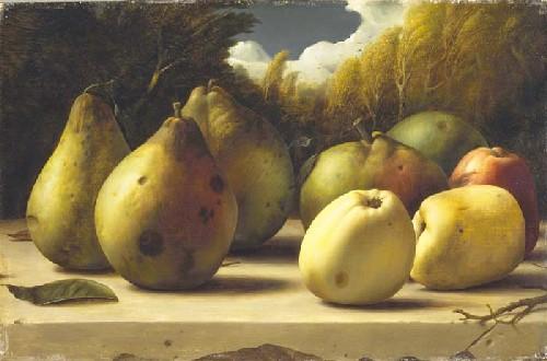 Naturaleza muerta con manzanas y peras, 1944-46