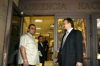 Jaled al Masri en la Audiencia Nacional 9 de octyubre de 2006 Claudio Álvarez