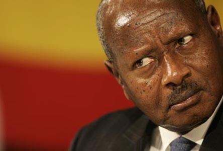 Museveni_uganda en conferencia commonwealth2005