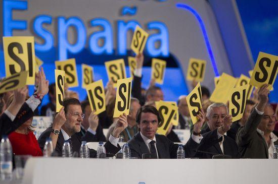 Votación en el congreso del PP en Sevilla el domingo 19 de febrero/JULIÁN ROJAS