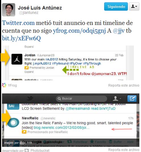 Publicidad contezxtual Twitter
