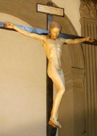 Crucifijo de Miguel  Ángel 9desnudo)