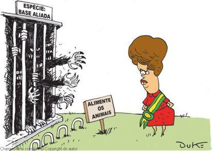Dilma y base aliada (viñeta)