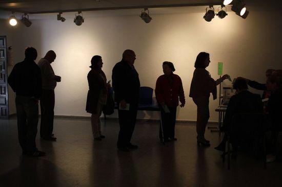 Colegio electoral en Ronda