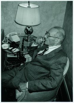 """""""William S. Burroughs in his Rome hotel"""", May 1989 - photo © Udo Breger"""