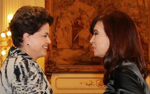 Dilma y Cristina en una reunión del Mercosur