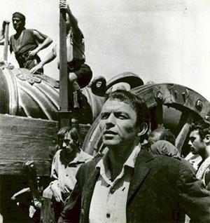 Frank Sinatra en el rodaje