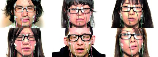 Face visualizer. Face instrument una performance del artista japonés Daito Manabe