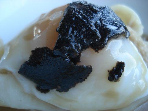 Cohombros con huevo de perdíz