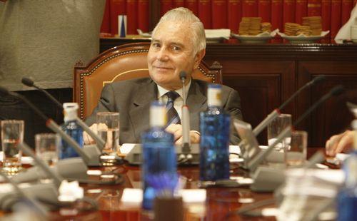 Carlos Dívar en un pleno. Cristóbal Manuel