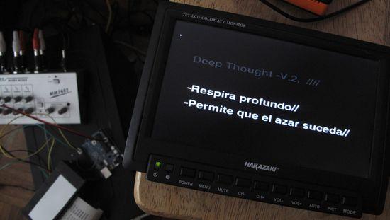 DeepToughtV2 una instalación de DreamAddictive