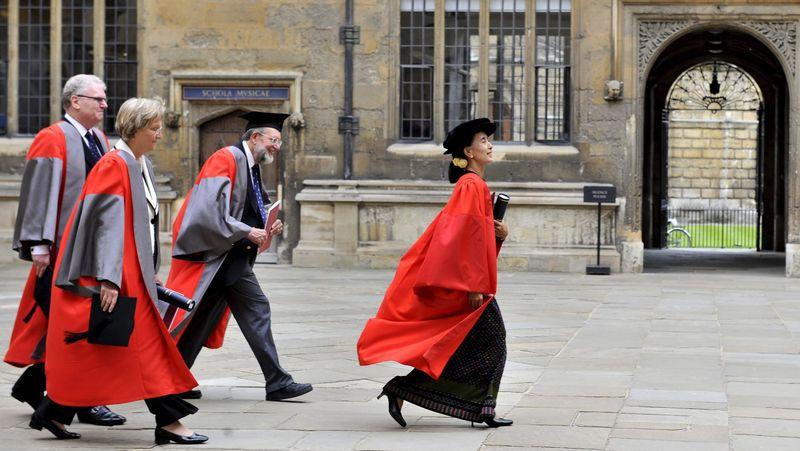 Suu Kyi, en Oxford la semana pasada.