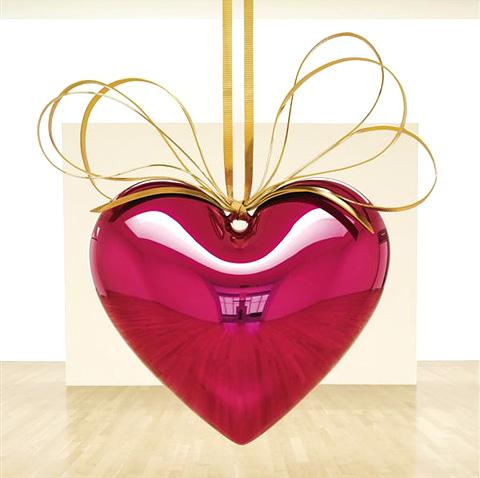 Foto de apertura. Cortesía de Artnet. Jeff Koons. Hanging Heart (Magenta/Gold).1994-1996