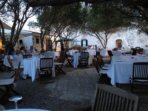 Terraza del hotel Alcaufar Vell