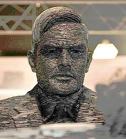 Escultura de Alan Turing en Bletchley Park. Autor: Sjoerd Ferwerda