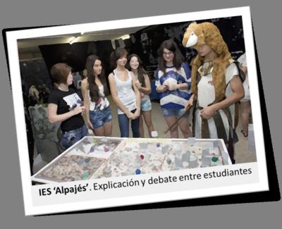IES 'Alpajés'. Explicación y debate entre estudiantes