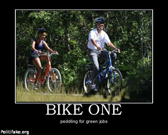 La Bike One, en referencia al Air Force One, de Obama.