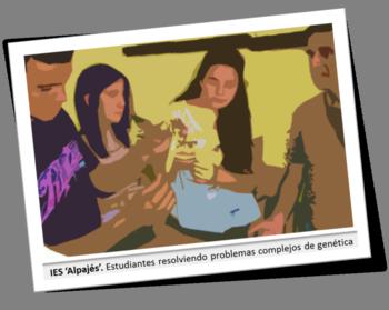 Estudiantes de 1º y 2º de Bachillerato de Ciencias participaron en una gymkhana biotecnológica en la que resolvieron complejos problemas genéticos, extrajeron ADN, fabricaron instantáneamente yogur, etc.