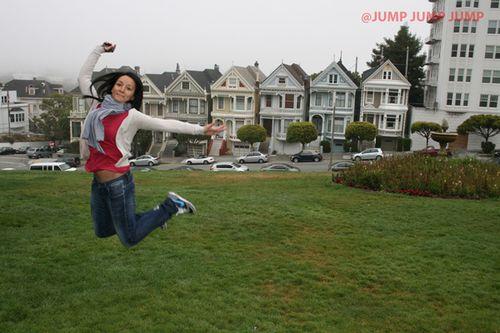 Jumping en Painted Ladies en SF